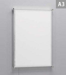 壁面ビス止めタイプアクリル枠仕様(A3)
