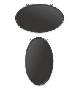 小型鍛鉄サインプレート楕円