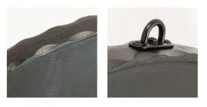 小型鍛鉄サインプレート楕円詳細写真