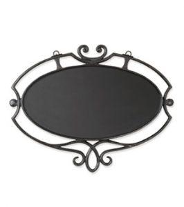 大型鍛鉄サインプレート(楕円飾り付)