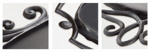 大型鍛鉄サインプレート(楕円飾り付)詳細写真