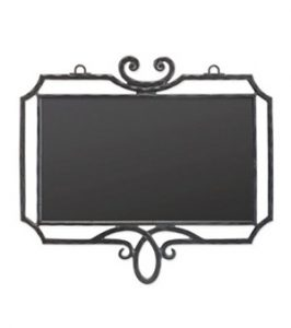 大型鍛鉄サインプレート(角飾り付)
