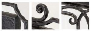 大型鍛鉄サインプレート(角飾り付)詳細写真