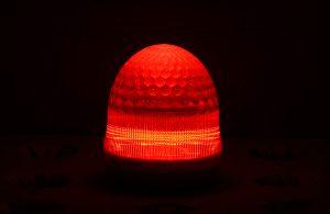 最新LEDサイン球・側面図(赤)