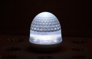 最新LEDサイン球・側面図(白)
