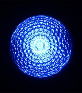 最新LEDサイン球・正面図(青)