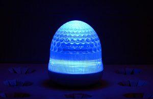 最新LEDサイン球・側面図(青)