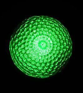 最新LEDサイン球・正面図(緑)