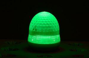 最新LEDサイン球・側面図(緑)