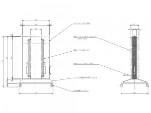 国産三和製LEDスタンド看板H1120×W750×D600図面