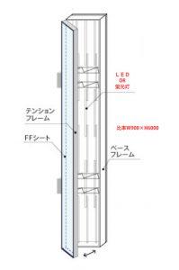 突出し看板(特注品)図面2