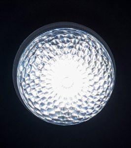 最新LEDサイン球・正面図(白)