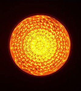 最新LEDサイン球・正面図(黄色)