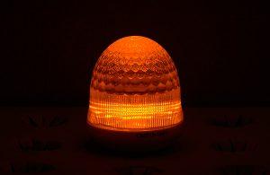 最新LEDサイン球・側面図(黄色)