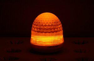 最新LEDサイン球・側面図(黄色高輝度)